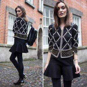 • {H&M} Black Drop Waist Skirt
